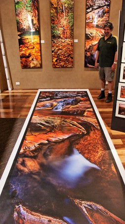 4m canvas print laid out at Monk Art Photography Gallery