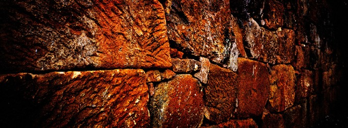 Slave built wall in Tiradentes, Minas Gereis Brasil.