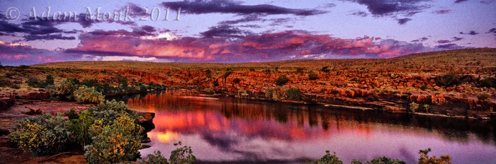 Sir John Gorge at sunset, Mornington Station in the Kimberley