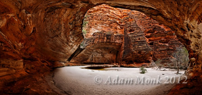 Cathedral Gorge in the Bungle Bungles. Purnululu National Park, Kimberley WA