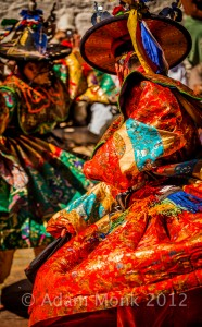 Costumed dancer in a Dance festival, Bumthang province, Bhutan