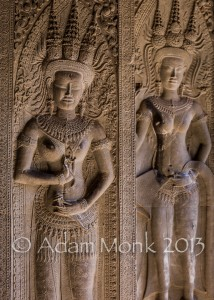Angkor Wat temple carvings