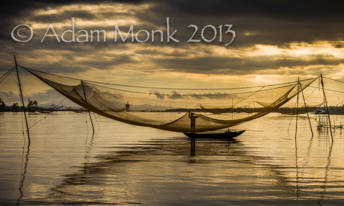 Fisherman of Hoi An, Vietnam by Adam Monk 7