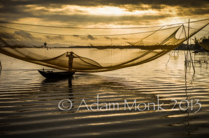 Fisherman of Hoi An, Vietnam by Adam Monk 8