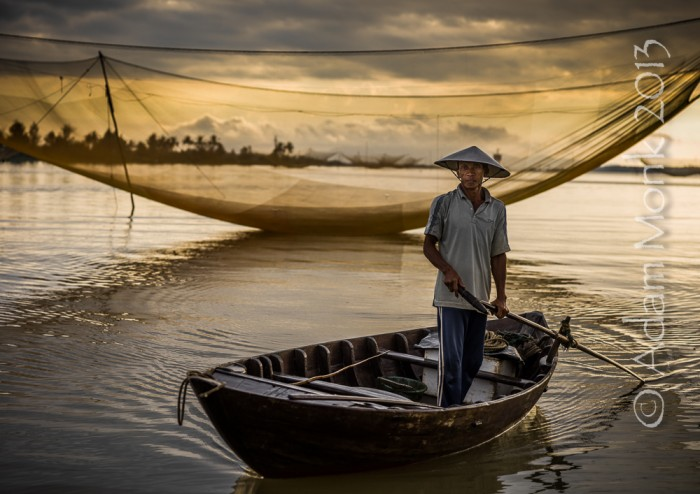 Fisherman of Hoi An, Vietnam by Adam Monk 12