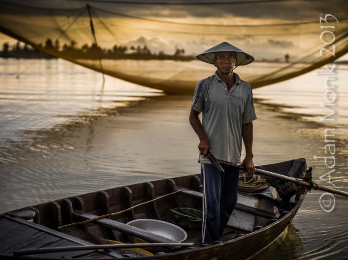 Fisherman of Hoi An, Vietnam by Adam Monk 14