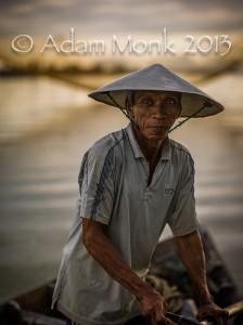 Fisherman of Hoi An, Vietnam by Adam Monk 16