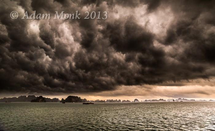 Halong Bay Rain Storm, Vietnam
