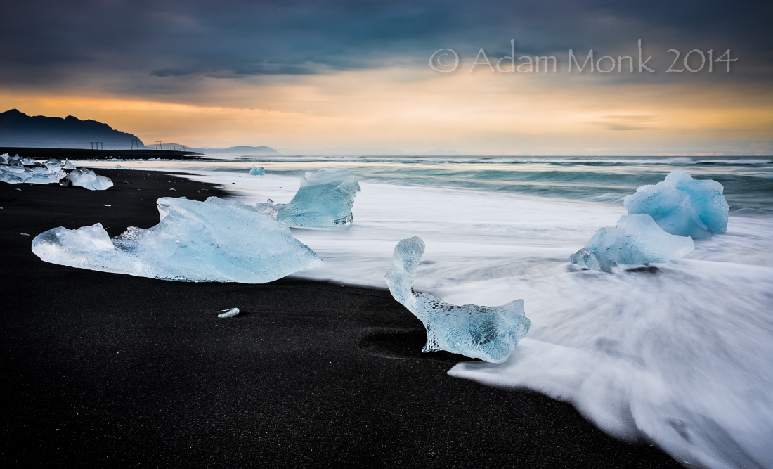 Ice Beach At Jokulsarlon Iceland
