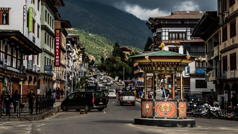 Bhutan Photo Tour with Adam Monk. Thimphu Police Box