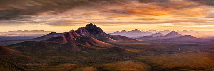 Stirling Ranges from Mount Trio