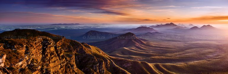 Bluff Knoll sunset in the Stirling Ranges.