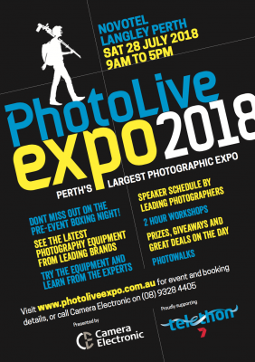 Perth Photolive Expo 2018 preview