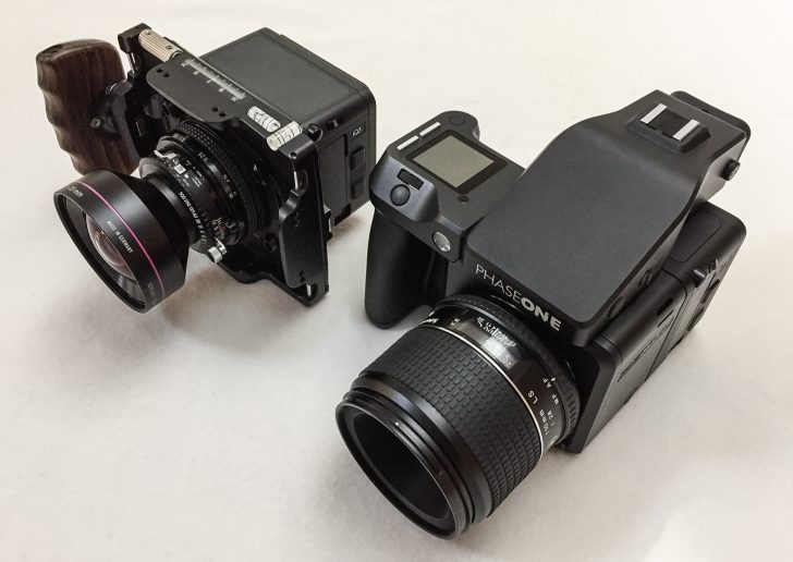Cambo technical camera and the Phase One XF camera